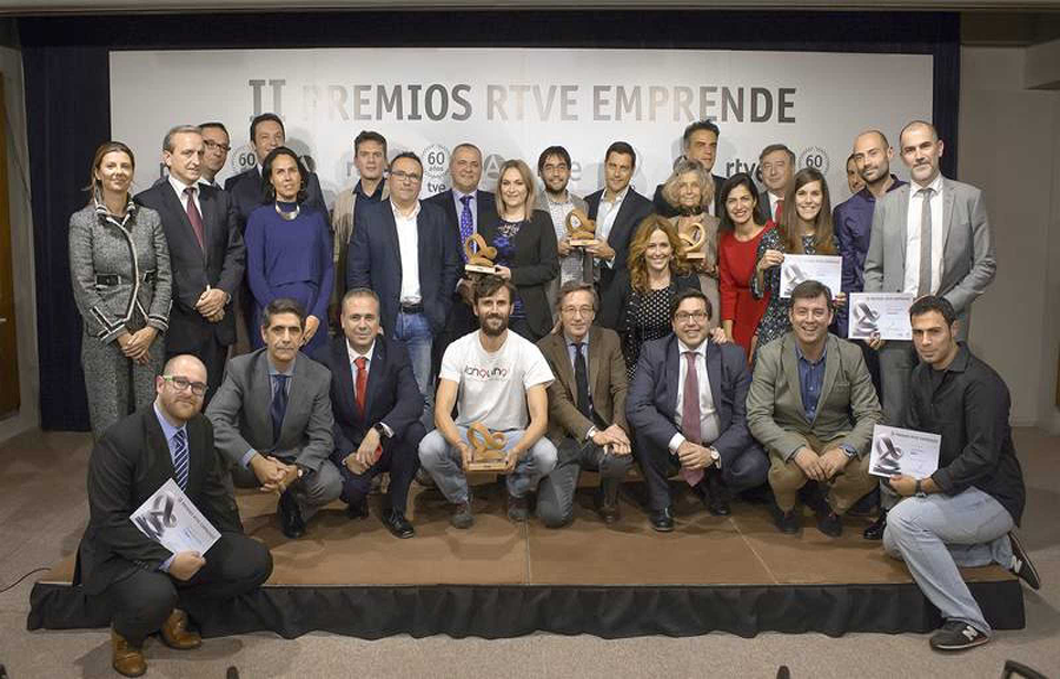 Awarded people during the RTVE Emprende Contest